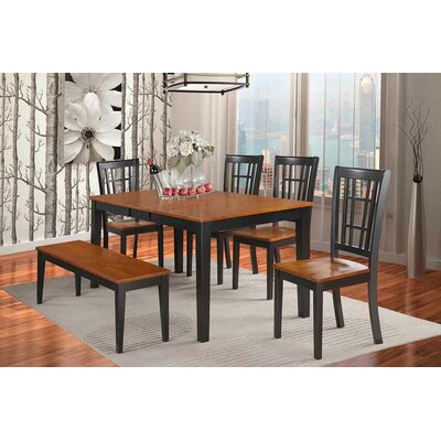 East West Furniture Nicoli 6 Piece Dining Set