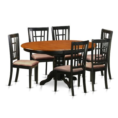 East West Furniture 7 Piece Dining Set