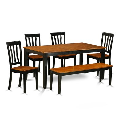 East West Furniture 6 Piece Dining Set