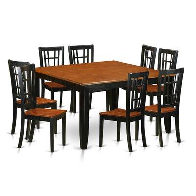 East West Furniture Parfait 9 Piece Dining Set