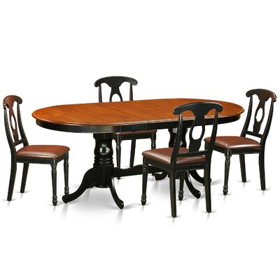East West Furniture Plainville 5 Piece Dining Set