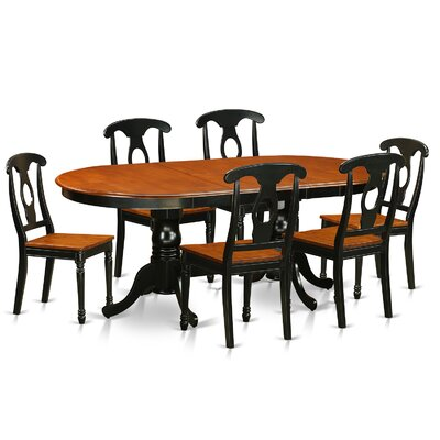 East West Furniture Plainville 7 Piece Di..