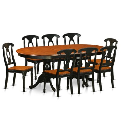 East West Furniture Plainville 9 Piece Di..