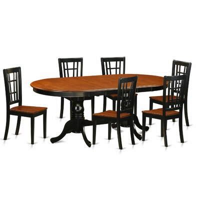 East West Furniture Plainville 7 Piece Dining Set