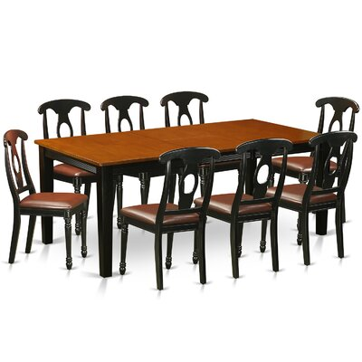 East West Furniture Quincy 9 Piece Dining Set