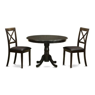 East West Furniture Hartland 3 Piece Dining Set