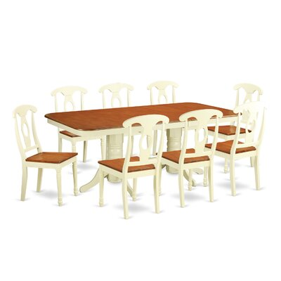 East West Furniture Napoleon 9 Piece Dinning Set