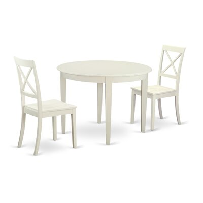 East West Furniture Boston 3 Piece Dining Set