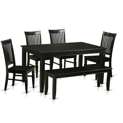 East West Furniture Dudley 6 Piece Dining Set
