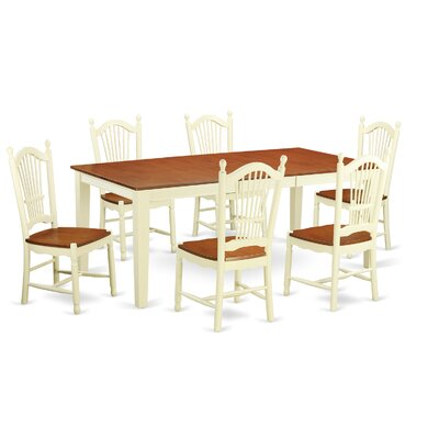 East West Furniture Quincy 7 Piece Dining Set