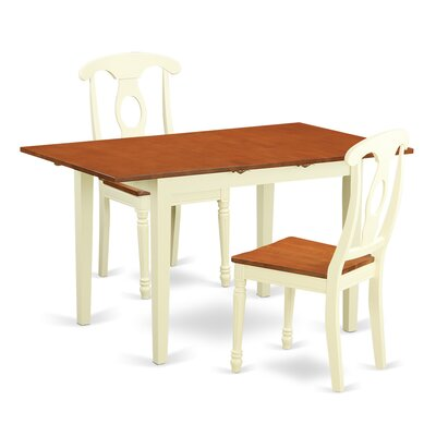East West Furniture Norfolk 3 Piece Dining Set