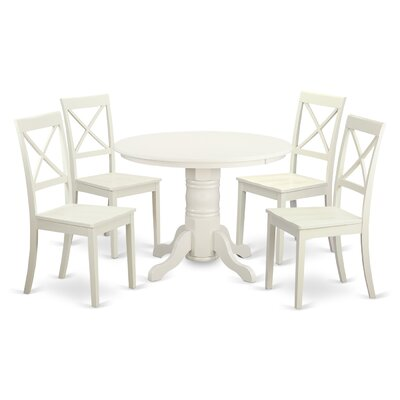 East west shelton 5 piece dining set wayfair for 5 piece dining room set with bench