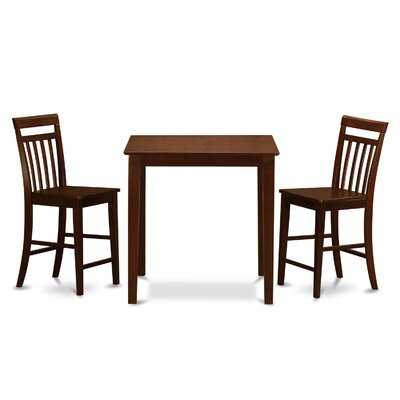 East West Furniture Vernon 3 Piece Counter Height Pub Table Set