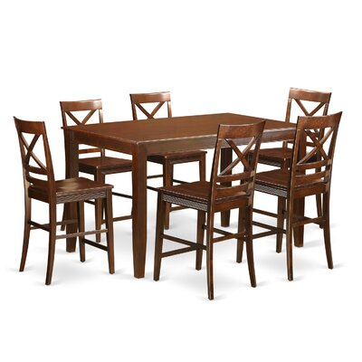 East West Furniture Dudley 7 Piece Counter Heig..
