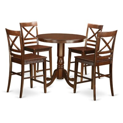 East West Furniture Jackson 5 Piece Counter Height Pub Table Set