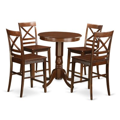 East West Furniture Eden 5 Piece Counter Hei..