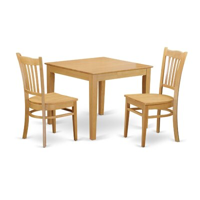 East West Furniture Oxford 3 Piece Dining Set