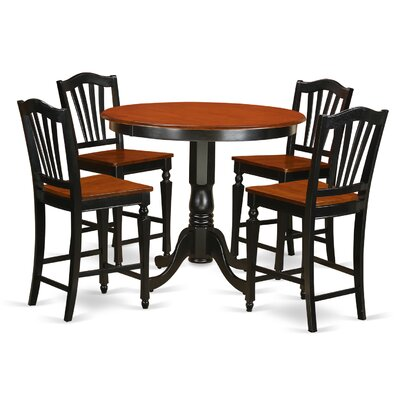 East West Furniture Trenton 5 Piece Counter Heig..