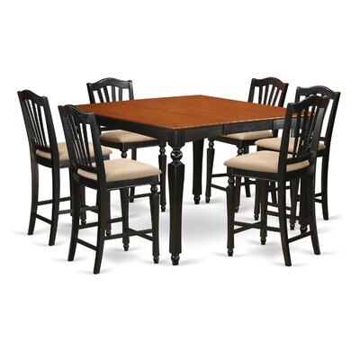 East West Furniture Chelsea 7 Piece Counter Height Dining Set