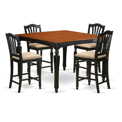East West Furniture Chelsea 5 Piece Counter Height Dining Set