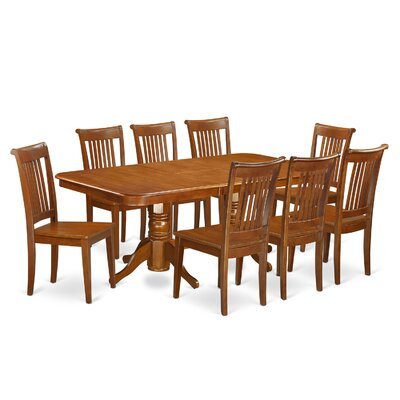East West Furniture Naport 9 Piece Dining Set