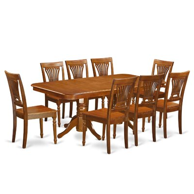 East West Furniture Napoleon 9 Piece Dining Set Image