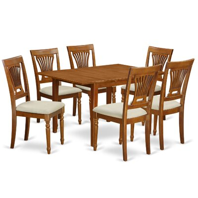 East West Furniture Milan 7 Piece Dining ..