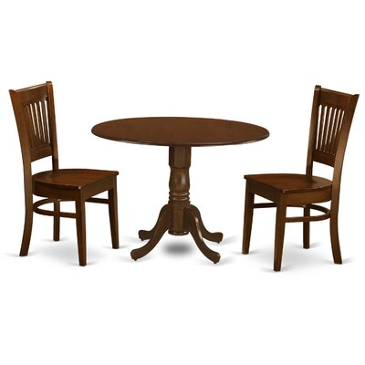 East West Furniture Kenley 3 Piece Dining Set