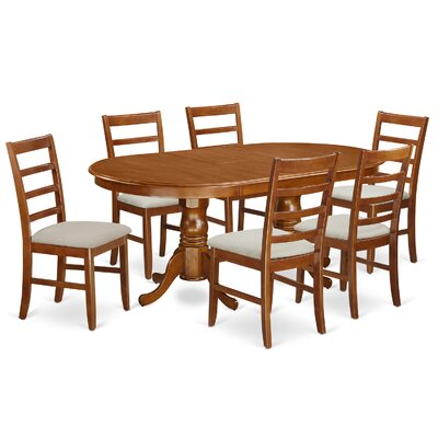 East West Furniture Plainville 7 Piece Dining Set
