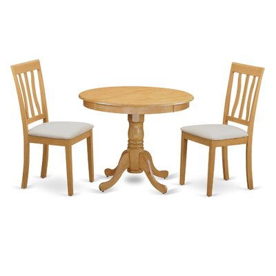 East West Furniture 3 Piece Bistro Set