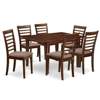 East West Furniture Milan 7 Piece Dining Set