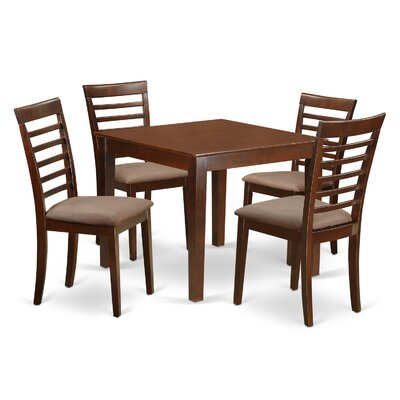 East West Furniture Oxford Microfiber Upholstery 5 Piece Dining Set