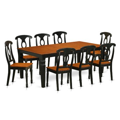 East West Furniture Logan 9 Piece Dining Set