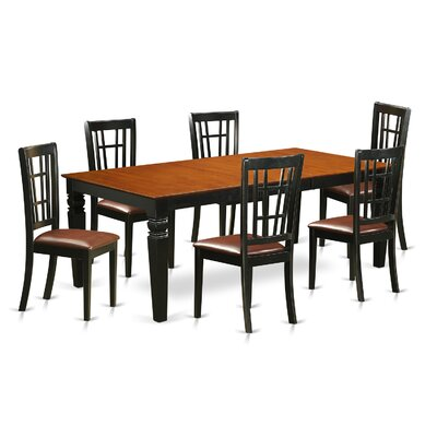 East West Furniture Logan 7 Piece Dining Set Image