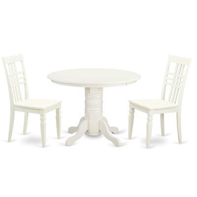 East West Furniture 3 Piece Dining Set