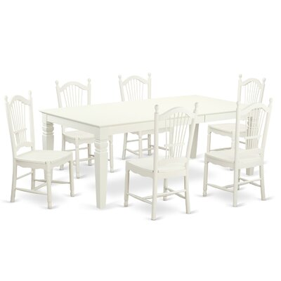 East West Furniture Logan 7 Piece Dining ..