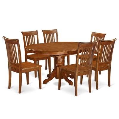 East West Furniture Avon 7 Piece Dining Set