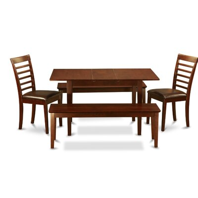 East West Furniture Norfolk 5 Piece Dining Set