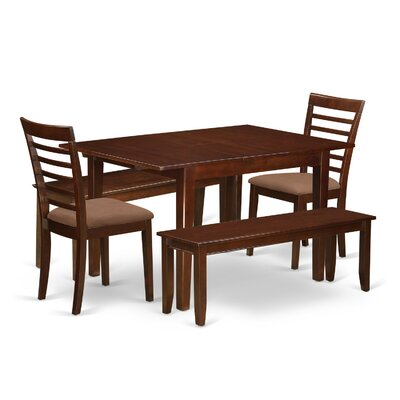 East West Furniture Milan 5 Piece Dining Set