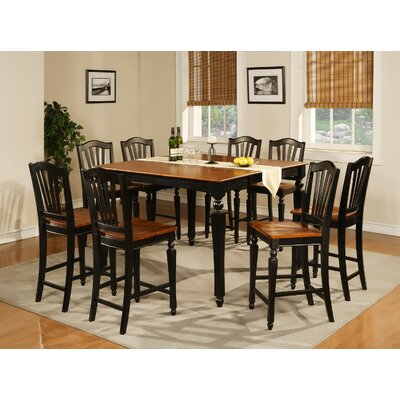 East West Furniture Chelsea 9 Piece Counter Height Pub Table Set