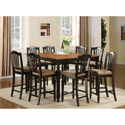 East West Furniture Chelsea 9 Piece Counter ..