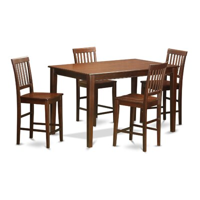 Wooden Importers 5 Piece Counter Height Dining Set