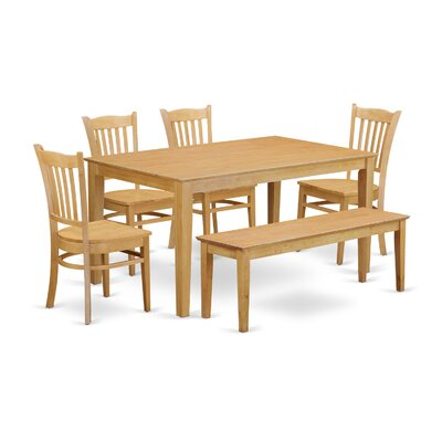 Wooden Importers Capri 6 Piece Dining Set