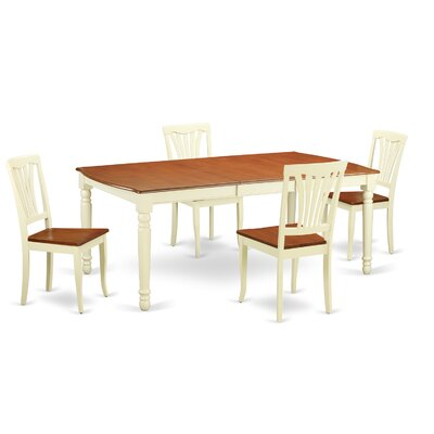 Wooden Importers Dover 5 Piece Dining Set