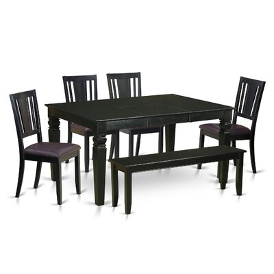 Wooden Importers Weston 6 Piece Dining Set