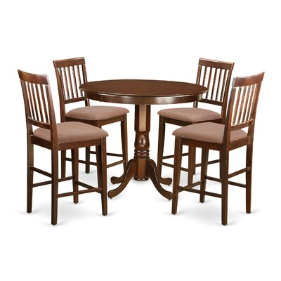 Wooden Importers Trenton 5 Piece Counter Height Pub Table Set