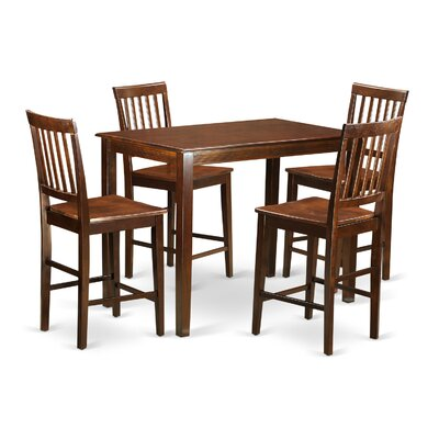 Wooden Importers Yarmouth 5 Piece Counter Height Pub Table Set