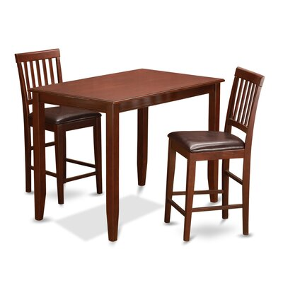 Wooden Importers 3 Piece Dining Set