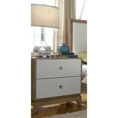 Mercury Row Hector 2 Drawer Nightstand