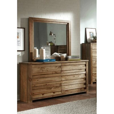 Loon Peak Melrose 6 Drawer Dresser with Mirror